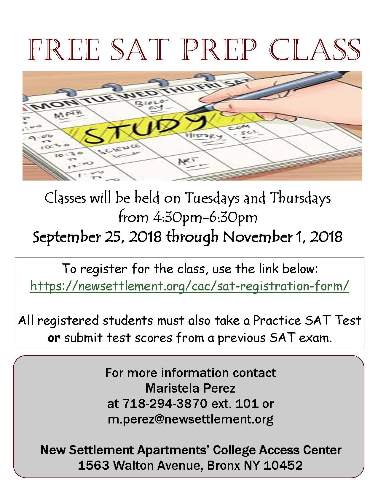 SAT Prep Class | College Access Center