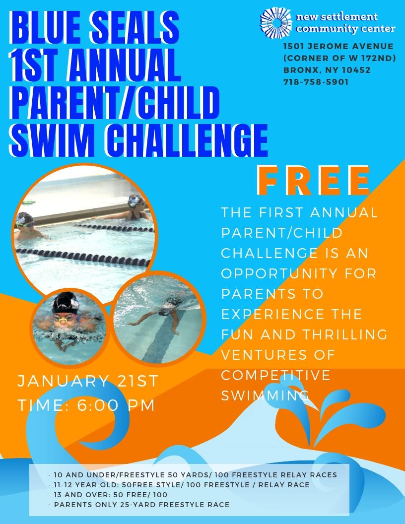 Blue Seals 1st Annual Parent/Child Swim Challenge